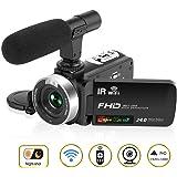 Caméscope Caméra Caméscope HD 1080P 30FPS 24.0MP 3 '' LCD Caméscope Vision Nocturne avec Microphone Microphone et Télécommande