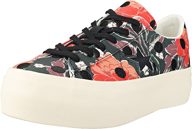 Converse Cons One Star Platform Ox, Sneakers Basses Femme