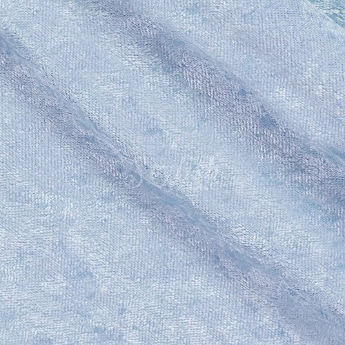 - Crushed Panne Velour Fabric Baby Blue by the yard or wholesale - 1 Yard