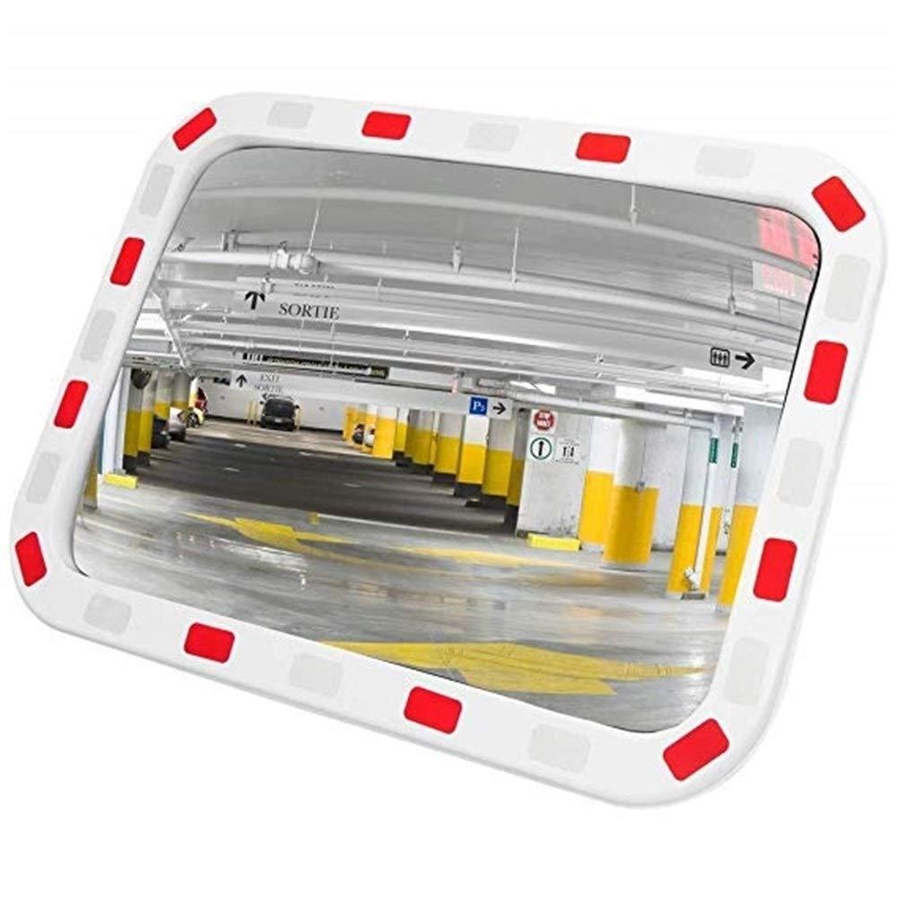 Miroir dinspection convexe de miroir de miroir de s/écurit/é du trafic 60 cm pour la s/écurit/é de route et la s/écurit/é datelier avec la parenth/èse de fixation Miroir dangle mortT0427