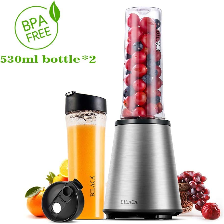 BILACA Personal Blender Single Serve for Shakes and Smoothies,Frozen Fruit Blender