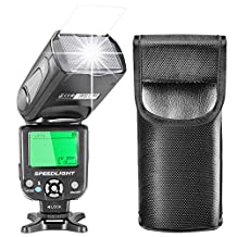 Neewer i-TTL Speedlite Flash with LCD Display, Hard Diffuser and Protecting Bag for Nikon DSLR Cameras, Such as Nikon D7200 D7100 D7000 D5500 D5300 D5200 D5100 D3300 D3200 D3100 D500 D60 D50(NW-562)