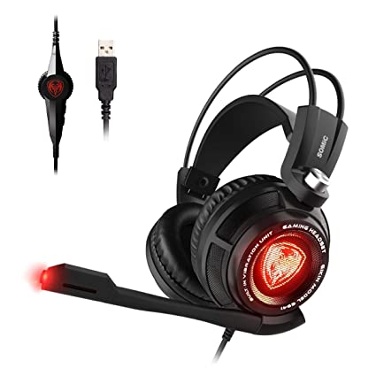 e9327372943 SOMIC G941 Gaming Headset,7.1 Virtual Surround Sound USB Lightweight Over  Ear Headphone with Mic,Volume Control,LED Light: playstation 4: Amazon.ca:  ...