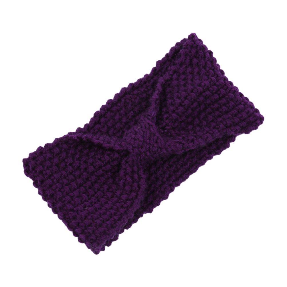 CoFashion Women Crochet Headband Knitted Hairband Head Wrap for Outdoors Sports Cycling Running Camping Hiking