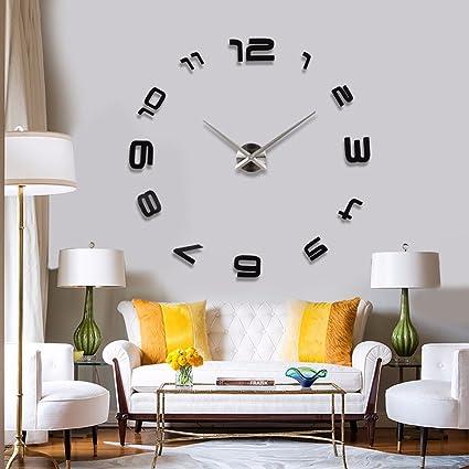 Bon SSBY Character Art Of Living Room Wall Clock Large Clocks Bedroom DIY Wall  Sticker Clock Creative
