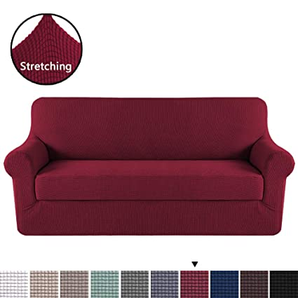 Amazon Com H Versailtex High Stretch Sofa Cover 2 Pieces Machine