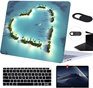 """MacBook Air 13 inch Case A1466 A1369 Rubberized Hard Cover with with Screen Protector Keyboard Cover and Webcam Cover Compatible Old MacBook Air 13"""" Without Touch ID Version 2017, 2016, 2015"""