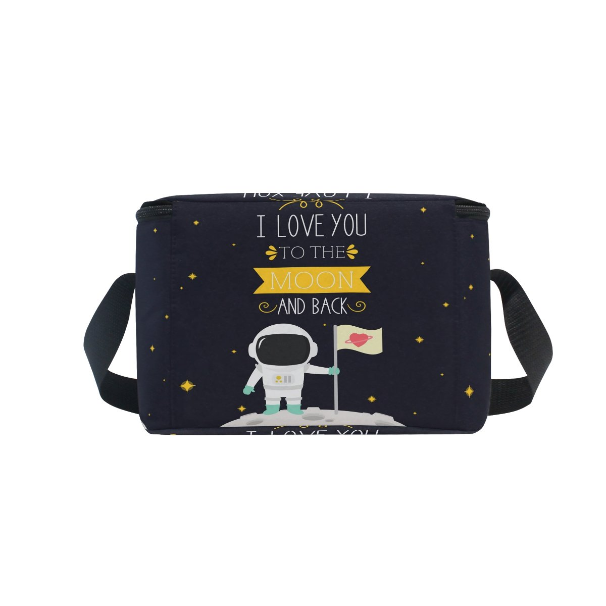 ALAZA I Love You to the Moon and Back Star Insulated Lunch Bag Box Cooler Bag by ALAZA (Image #5)