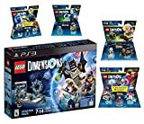 Lego Dimensions Time Traveler Starter Pack + Doctor Who Level Pack + Cyberman Fun Pack + Back To The Future Marty McFly Level Pack + Doc Brown Fun Pack for Playstation 3 PS3 Console