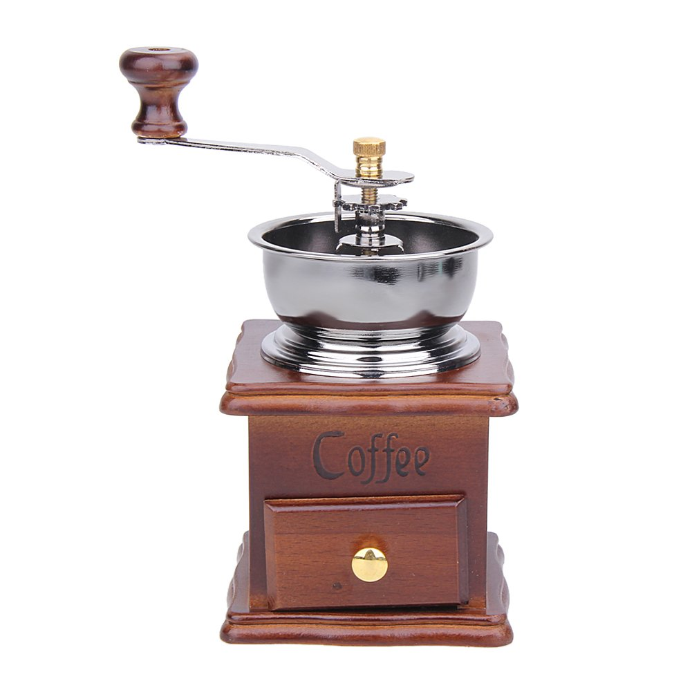 Matefield Manual Coffee Bean Grinder Retro Wood Design Mill Maker Grinders by Matefield (Image #1)