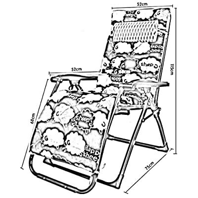 NA Silla de la cama del dormitorio, silla perezosa del estudiante, oficina del artefacto del dormitorio de la universidad Silla de playa transpirable portátil de la casa Siesta Silla de playa plegabl: Deportes y aire libre