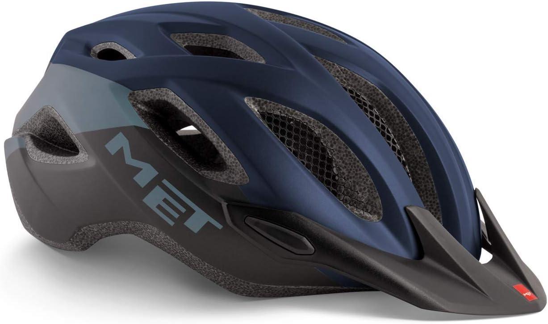 Casco Monta/ñismo Met Crossover XL Adultos Unisex 60-64 Alpinismo y Trekking Multicolor Azul Negro
