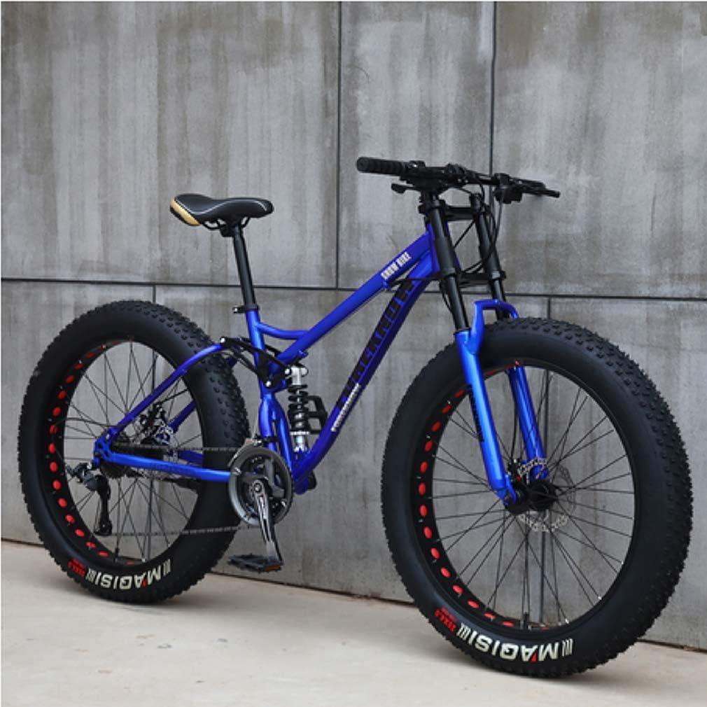AISHFP para Hombre de 24 Pulgadas Fat Tire Bicicleta Todo Terreno ...