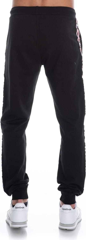 Boy London Pantalone Uomo Nero in Felpa con Bande Laterali BLU6072