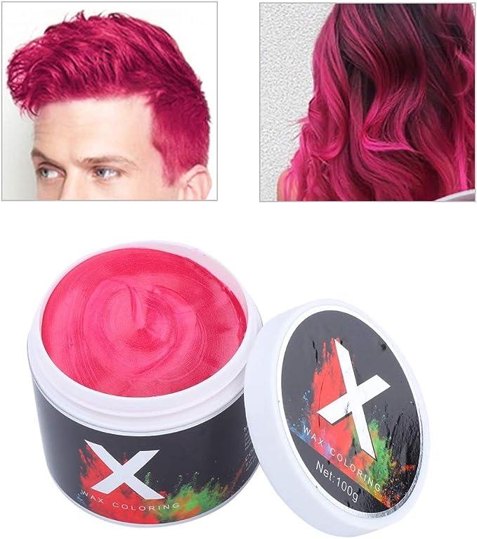 Simlug 【𝐕𝐞𝐧𝐭𝐚 𝐑𝐞𝐠𝐚𝐥𝐨 𝐏𝐫𝐢𝐦𝐚𝒗𝐞𝐫𝐚】 Color de Cabello Cera Instantánea Desechable Temporal Peinado Tinte Barro(Rojo)