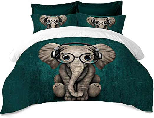 Amazon Com Rhap Quilt Cover Twin Size Animal Printed Duvet Cover