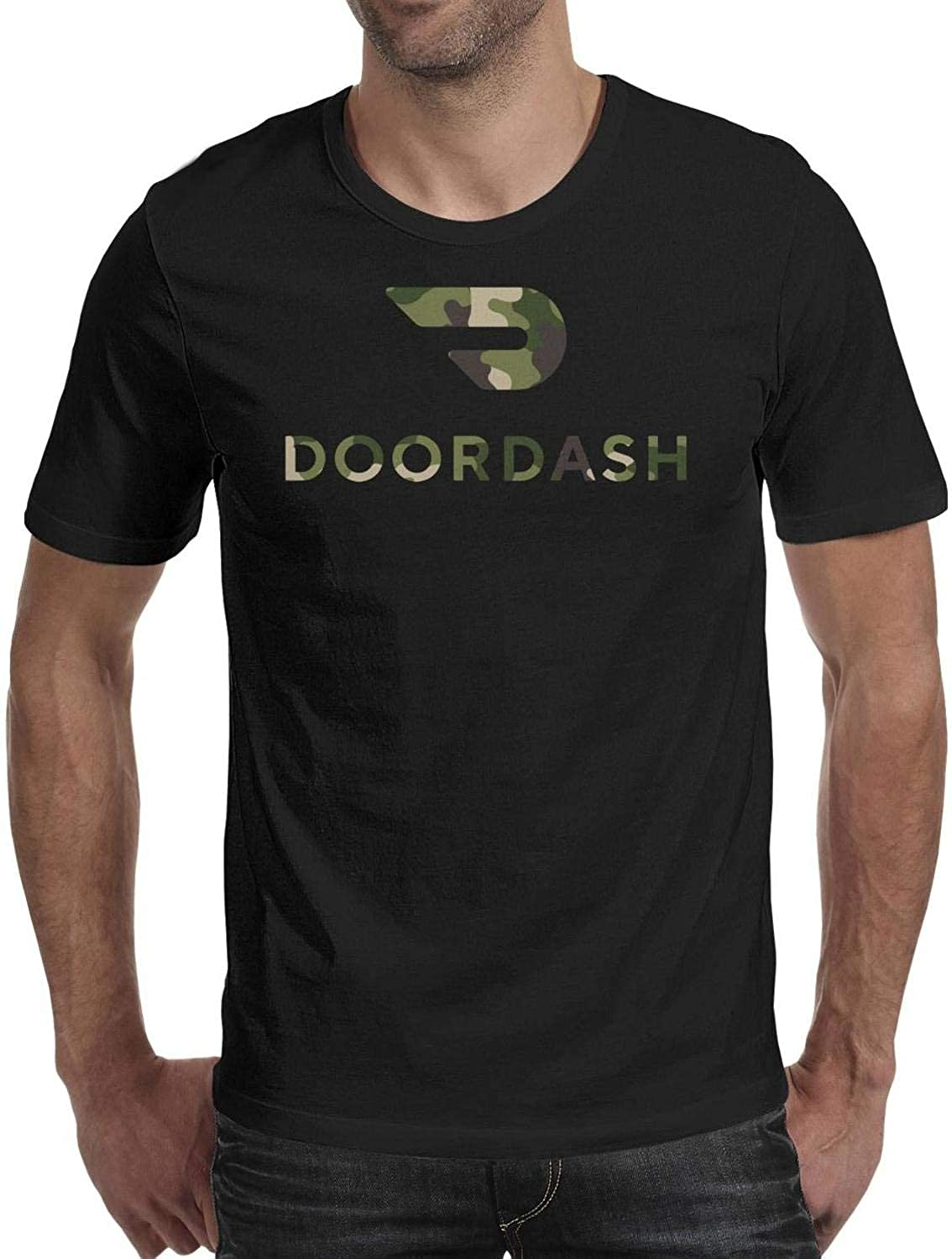 Unicorns Farting Doordash-American-Flag-Distressed- Tshirt for Men