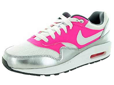 best website 55b3f 97382 Nike Air Max 1 (GS) Girls Running Shoes 653653-108 White Pink Pow