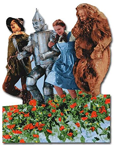 Wizard of Oz - Poppy Field Of Oz - Paper House Productions Die Cut Blank Card -