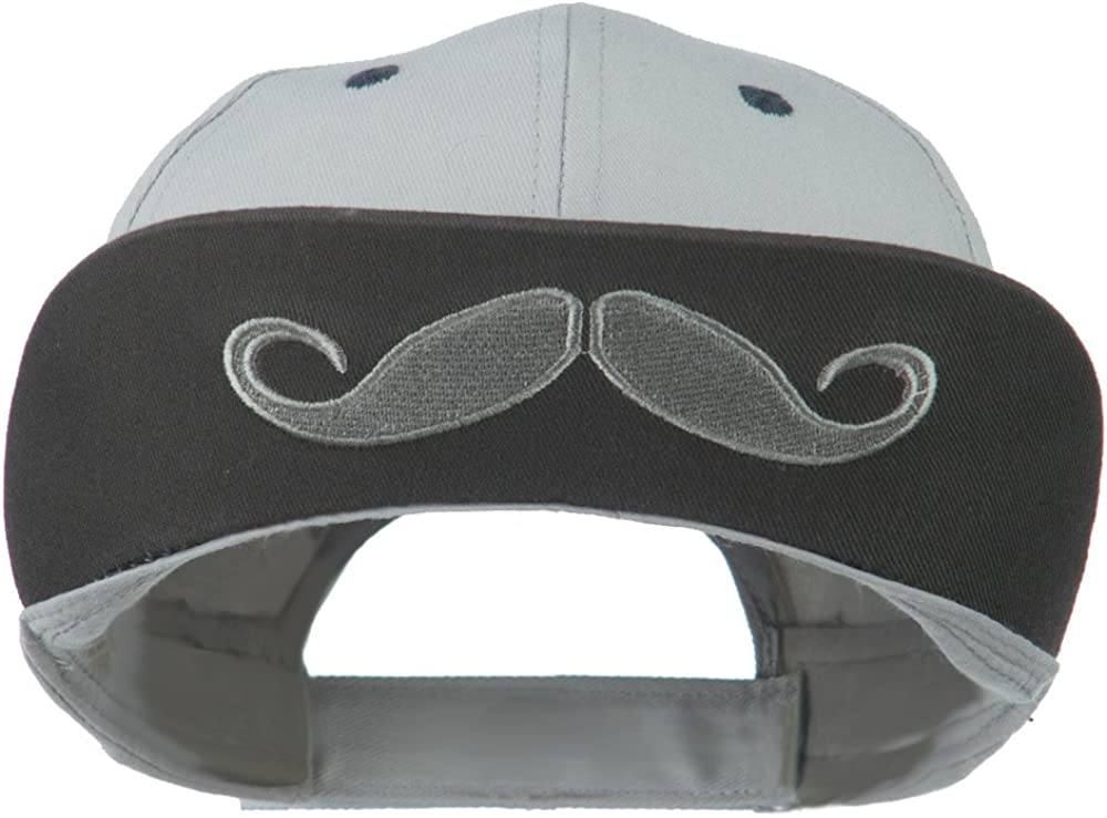 SS//Hat Mustache Cotton 6 Panel Baseball Cap Grey