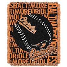 MLB Baltimore Orioles 48 x 60-Inch Double Play Jacquard Triple Woven Throw