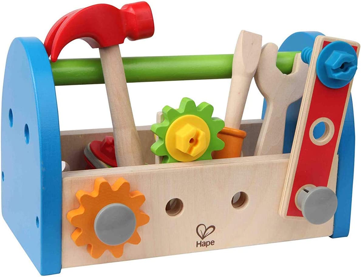 Wooden Tool Box and Accessory Play Set