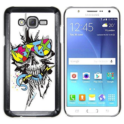 Planetar ( Crazy Trippy Shades Skull Punk ) Samsung Galaxy J7 (2016) / J710 Hard Printing Protective Cover Protector Sleeve Shell Case - Shades Trippy