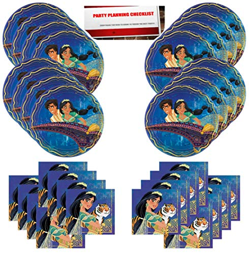 Aladdin Birthday Party Supplies Bundle Pack for 16 Guests (Plus Party Planning Checklist by Mikes Super Store)]()