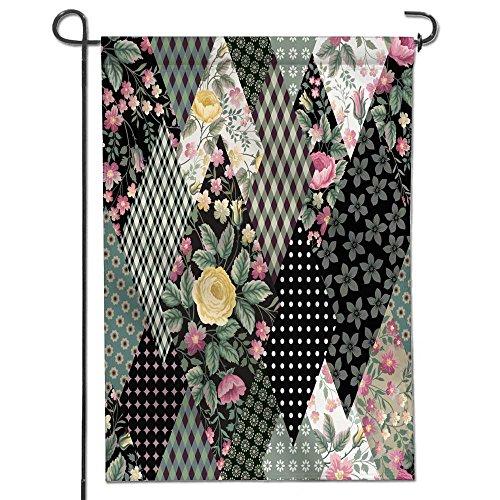 AmaPark Welecome Summer Garden Flag,seamless floral patchw