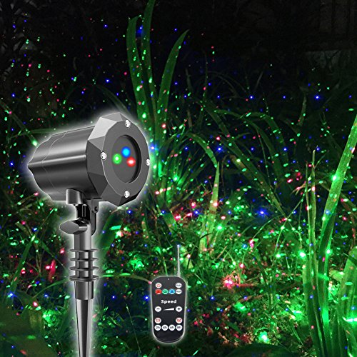 Poeland Christmas Projector Light, Moving Model, RGB (Red, Green, Blue) (Christmas Projection Red Lights)