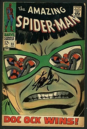 Stan Lee Signed Amazing Spider-Man #55 Comic Book Dr Octo...