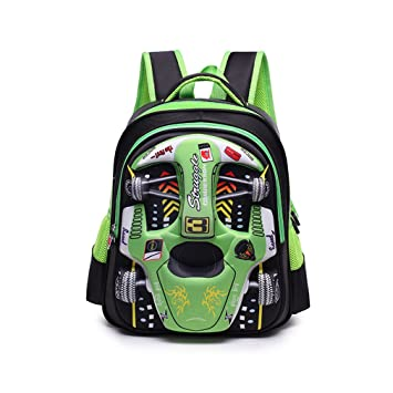 5101bac6f1ee Image Unavailable. Image not available for. Color  XMCOWAYOU Water  Resistant Boys Backpack 3D Cute Car Cartoon School Book Bag Green Grades 3-