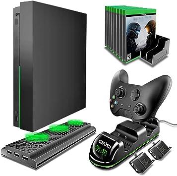OIVO Xbox One X Accessories Kit, 4 en 1 Xbox One X enfriador vertical con estación
