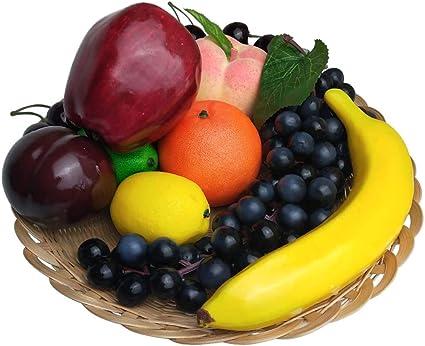 Kunstvruchten Set Voor Decoratie Nep Fruit Rekwisieten 10 Soorten Fruit Totaal 12 Stuks Amazon Nl Wonen Keuken