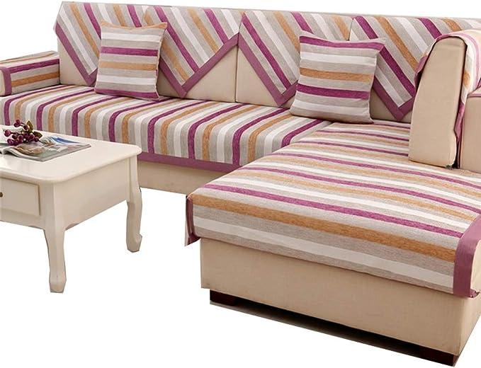 Cubierta de sofá Cojín de sofá minimalista moderno for todas las estaciones Cojín de sofá de cuero Asientos de sofá antideslizantes Cojín for colchoneta Protectores de muebles con múltiples tamaños di: Amazon.es: