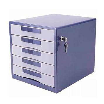 5 cajones Archivador Almacenamiento Bloqueado Hogar Oficina Escritorio A4 hierro- Azul, Liu yu · Espacio de oficina: Amazon.es: Oficina y papelería