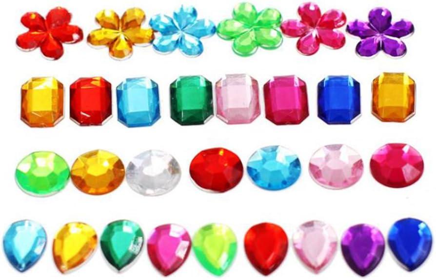 Mackur acrílico Piedras Preciosas Brillantes Craft Jewels Strass Cristal Piedras Preciosas DIY DIY Craft acrílico Piedras Preciosas Cristal Piedras Preciosas Adornos 200Unidades