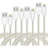 4Pack (3ft,6ft,6ft,10ft) Nylon Braided Charging Cord Charger Compatible with PhoneX/8/8Plus 7/7 Plus/6s/6s Plus/6/6 Plus…