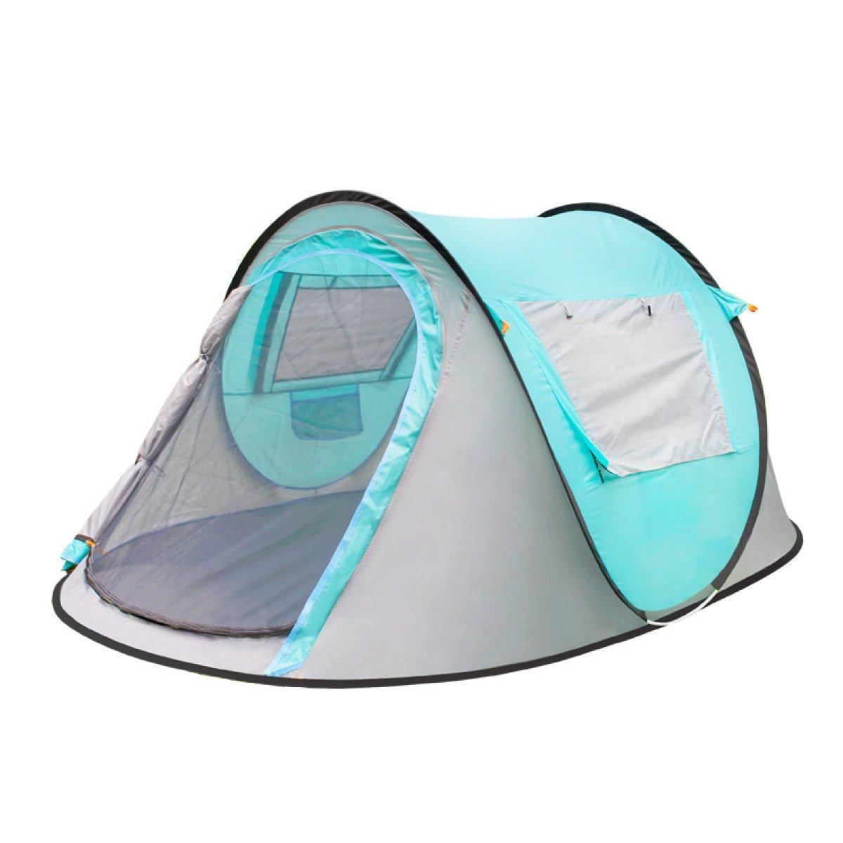 BFMEI Outdoor 3-4 Doppel Automatische Regen Zelt Öffnung Eingestellte Geschwindigkeit 2 Sekunden,SkyBlau-245150105
