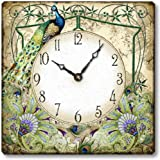 Item C7201 Vintage Style Peacock Clock For Sale