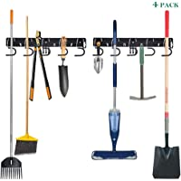 Twinkle Star Garage Tool Organizer Wall Mount, Mop Broom Holder, Wall Holders for Tools, 4 Pack
