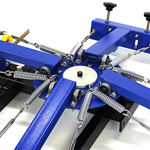 4 Color 1 Station Silk Screen Commercial Printing Press Machine Blue NS401 by Commercial Bargains