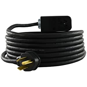 Conntek Rubber SJOOW 10/3 NEMA 10-30P 3 Prong Dryer Rubber Extension Cord, 25-Feet