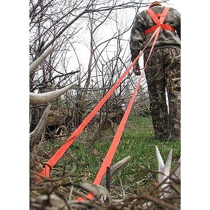 Amazon.com : Heavy Hauler Deer Drag Harness Orange : Hunting Safety