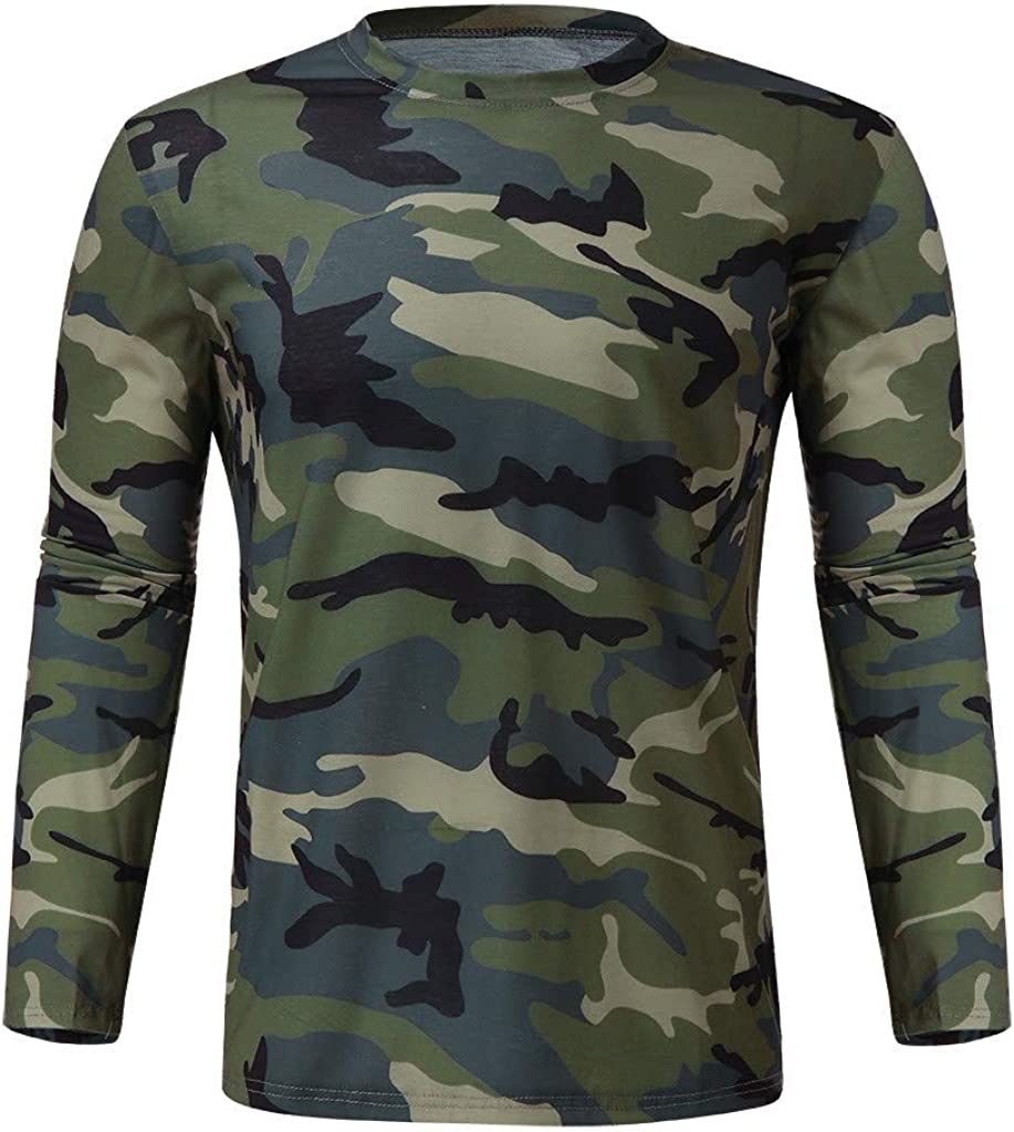 Toimothcn Mens Hooded Vest Casual Camouflage Print Sleeveless Blouse T-Shirt Top Slim Fit