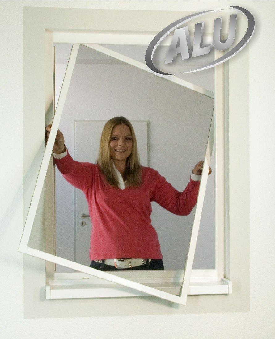 Insektenschutz Alu Rahmen System Comfort für Fenster 130 x 150cm weiß - kürzbar - 5er Sparset Sie sparen 17%