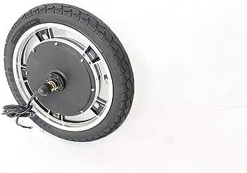 HYLH Bicicleta eléctrica Ebike 16 Pulgadas 36V 48V 500W 750W 1000W Rueda Delantera sin escobillas de Engranaje sin Motor Rueda de Motor con neumático Inflable: Amazon.es: Deportes y aire libre
