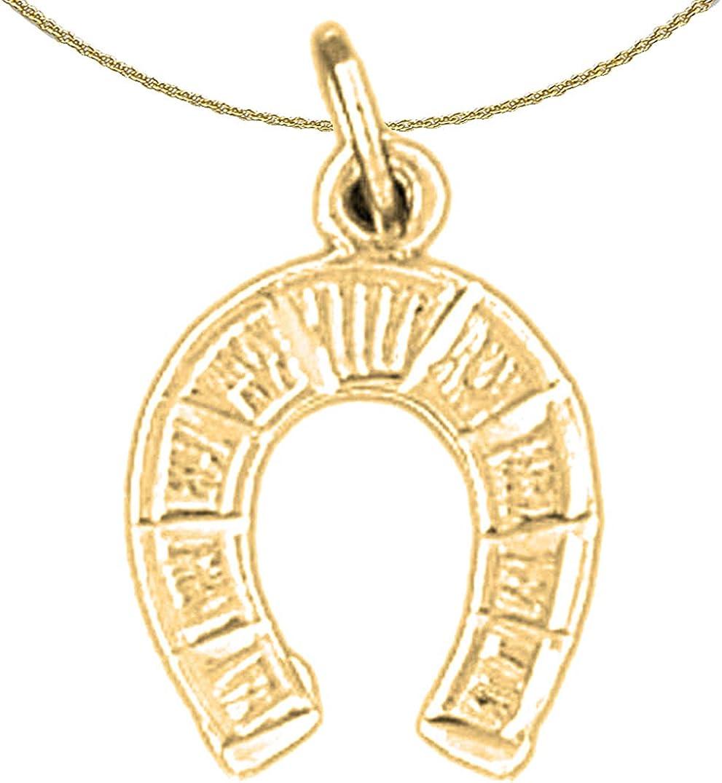 Jewels Obsession Horseshoe Pendant 18 mm 14K Yellow Gold Horseshoe Pendant