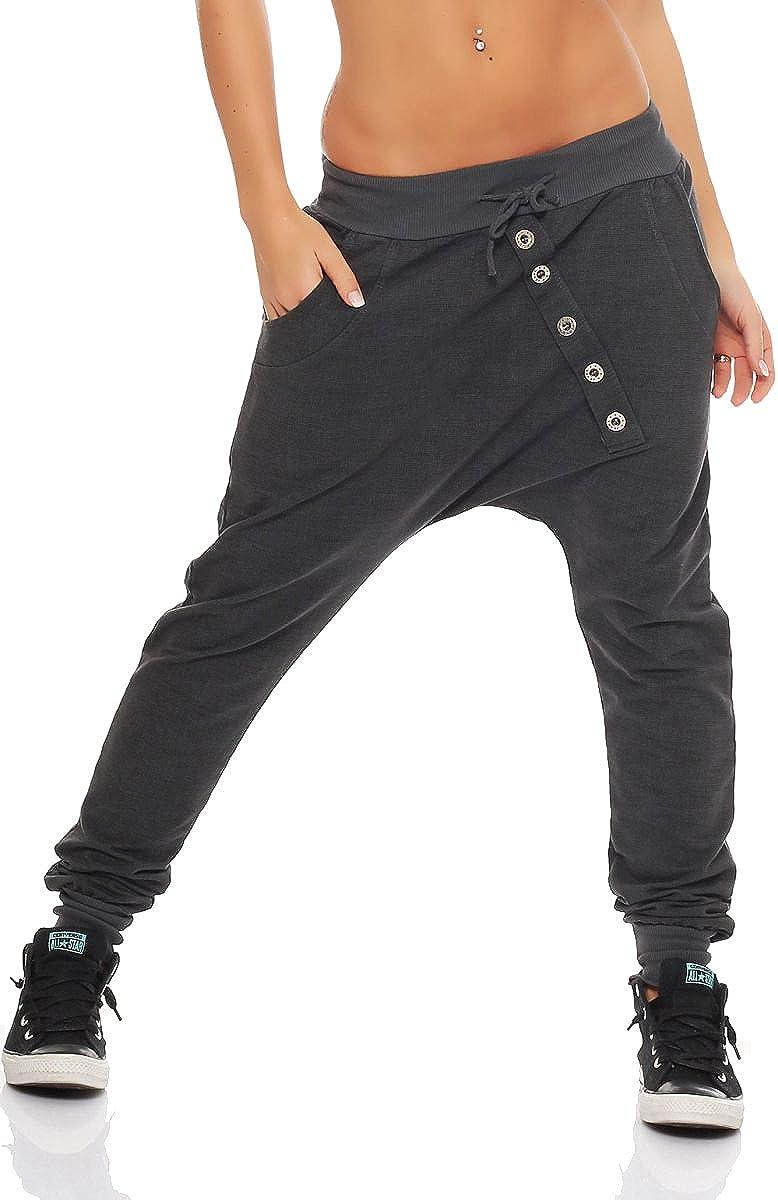 """Malito Pantaloni Boyfriend en el """"Tejer"""" Design Baggy Aladin Bombacho Sudadera 7398 Mujer Talla Única"""