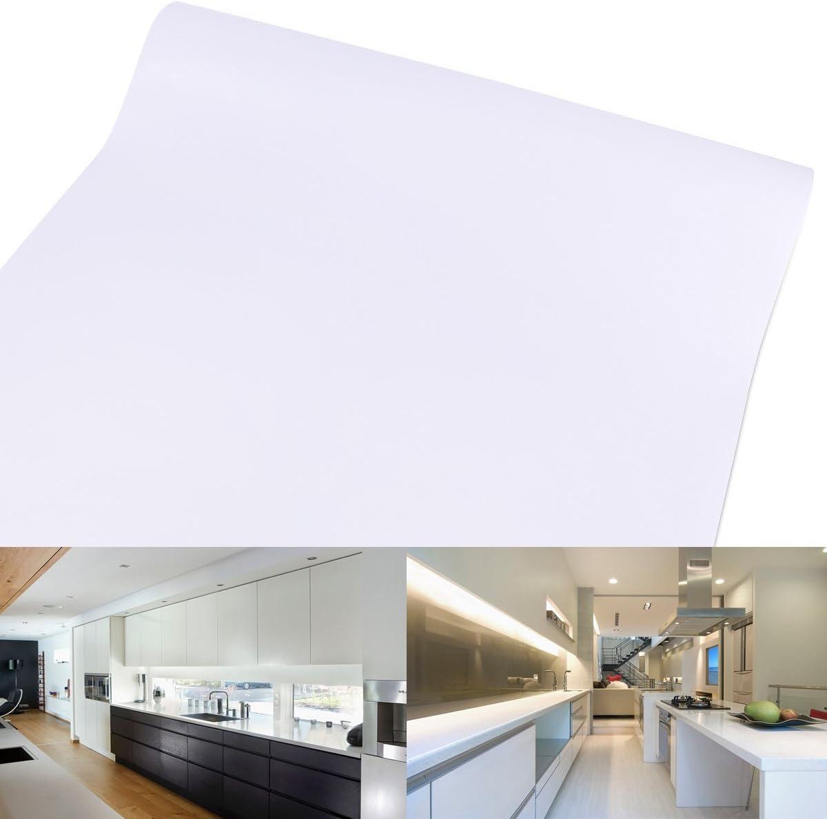 61 cm Rollo – 10 M (Metro) Blanco Autoadhesivo Muebles pantalla para manualidades pantalla pantalla para plotter Armario pantalla decorativo pantalla pantalla: Amazon.es: Hogar